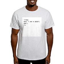 Ash Grey PHP Geek T-Shirt