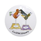 Double Cocktail Wiener Ornament (Round)