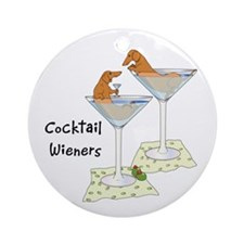 Cocktail Wieners (red) Ornament (Round)