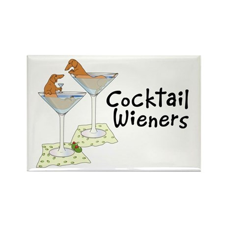 Cocktail Wieners (red) Rectangle Magnet (100 pack)