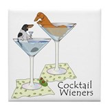 BT Piebald, Red Cocktail Wien Tile Coaster