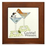 BT Piebald, Red Cocktail Wien Framed Tile