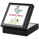 Red Piebald Cocktail Wiener Keepsake Box