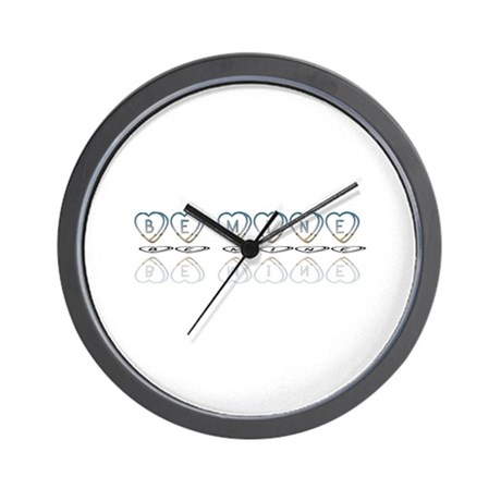Be Mine Hearts Wall Clock