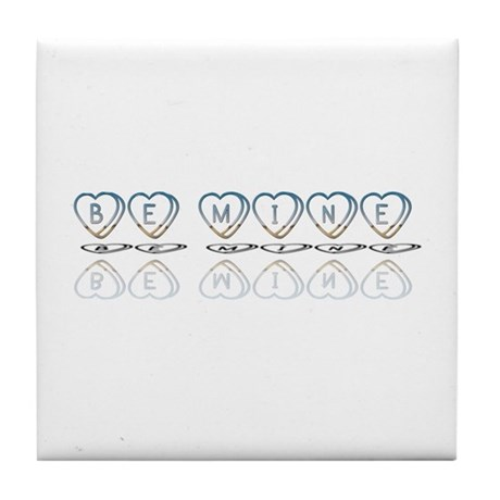 Be Mine Hearts Tile Coaster