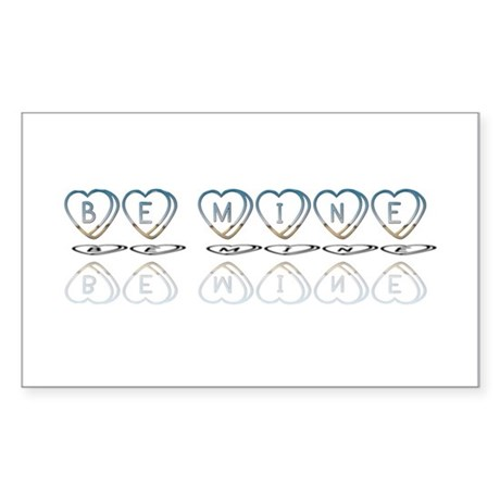Be Mine Hearts Rectangle Sticker