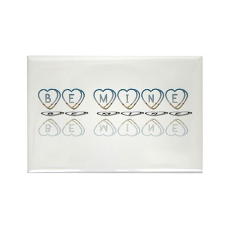 Be Mine Hearts Rectangle Magnet (100 pack)