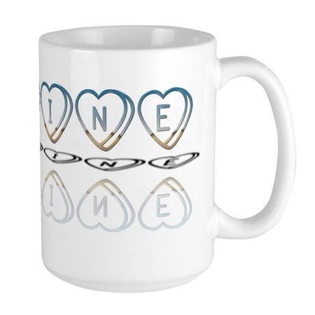 Be Mine Hearts Large Mug