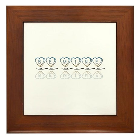 Be Mine Hearts Framed Tile