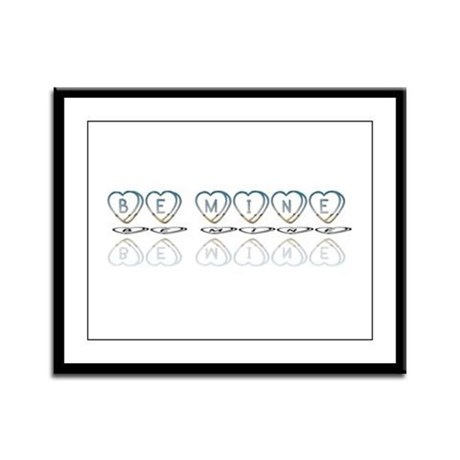 Be Mine Hearts Framed Panel Print
