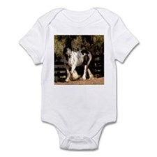 Cute Gypsy vanner horse Infant Bodysuit