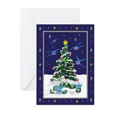 Baby blue dragons Christmas Cards (Pk of 20)