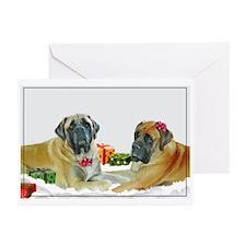 Mastiff Holiday Christmas Car Greeting Cards (Pk o