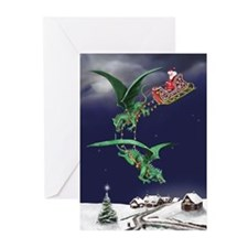 Santa's Dragon Sleigh Christmas Cards (Pk of 20)
