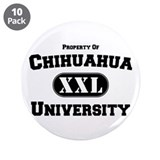 "Chihuahua University 3.5"" Button (10 pack)"