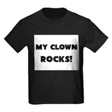 MY Clown ROCKS! Kids Dark T-Shirt