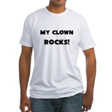 MY Clown ROCKS! Fitted T-Shirt