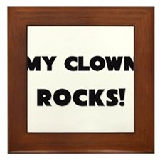 MY Clown ROCKS! Framed Tile