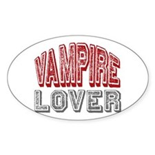 Vampire Lover Twilight Book Movie Oval Decal