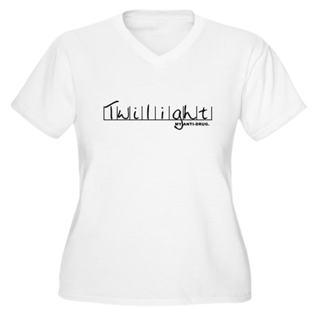 Twilight My Anti-Drug Women's Plus Size V-Neck T-S