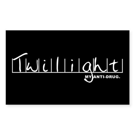 Twilight My Anti-Drug Rectangle Sticker