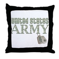 Army Wife - Digi Throw Pillow