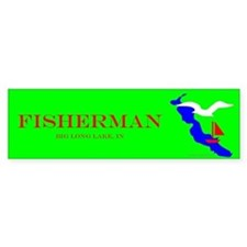 Bug Long Lake Fisherman Bumper Bumper Sticker