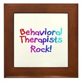 Behavioral Therapists Rock! Framed Tile