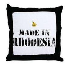 Made in Rhodesia Throw Pillow