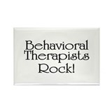 Behavioral Therapists Rock! Rectangle Magnet (10 p