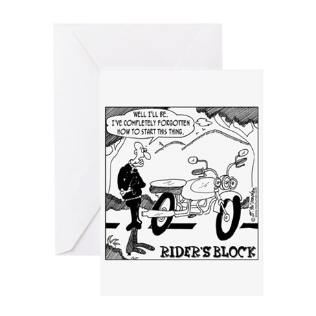 Rider's Block Greeting Card