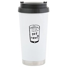 got raw? Ceramic Travel Mug