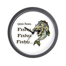 Here Fishy Fishy Fishy Wall Clock