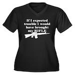CH-02 Women's Plus Size V-Neck Dark T-Shirt