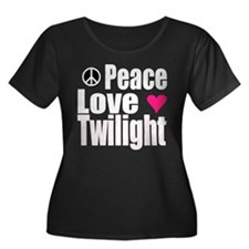 PEACE.LOVE.TWILIGHT Women's Plus Size Scoop Neck D