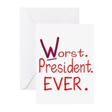 Worst President Ever Greeting Cards (Pk of 10)