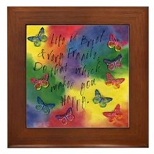 Do That Which Makes You Happy Framed Tile