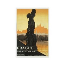 Prague Czechoslovakia Rectangle Magnet (10 pack)