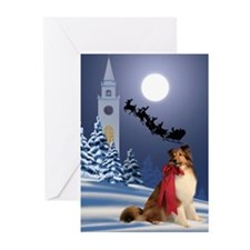 Sheltie & Santa Christmas Cards (Pk of 10)