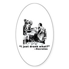 Socrates Humor Hemlock Oval Decal