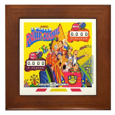 "Gottlieb® ""Roller Coaster"" Framed Tile"