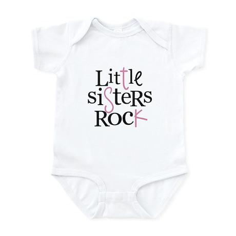 Little Sisters Rock - mixed color Infant Bodysuit