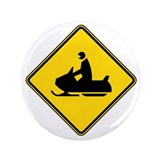 "Snowmobile Crossing 3.5"" Button (100 pack)"