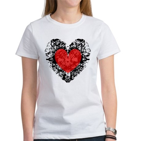 Pretty Grunge Heart Women's T-Shirt