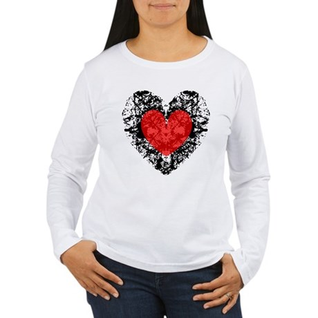 Pretty Grunge Heart Women's Long Sleeve T-Shirt