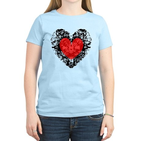 Pretty Grunge Heart Women's Light T-Shirt