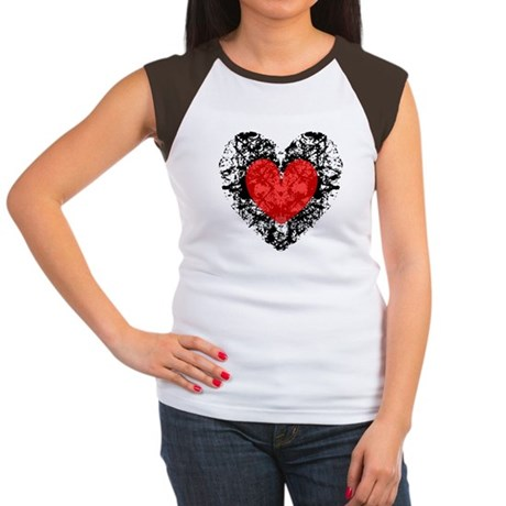Pretty Grunge Heart Women's Cap Sleeve T-Shirt