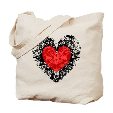 Pretty Grunge Heart Tote Bag