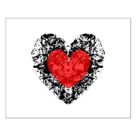 Pretty Grunge Heart Small Poster