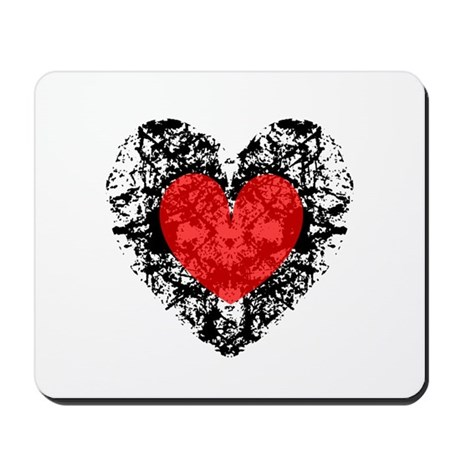 Pretty Grunge Heart Mousepad